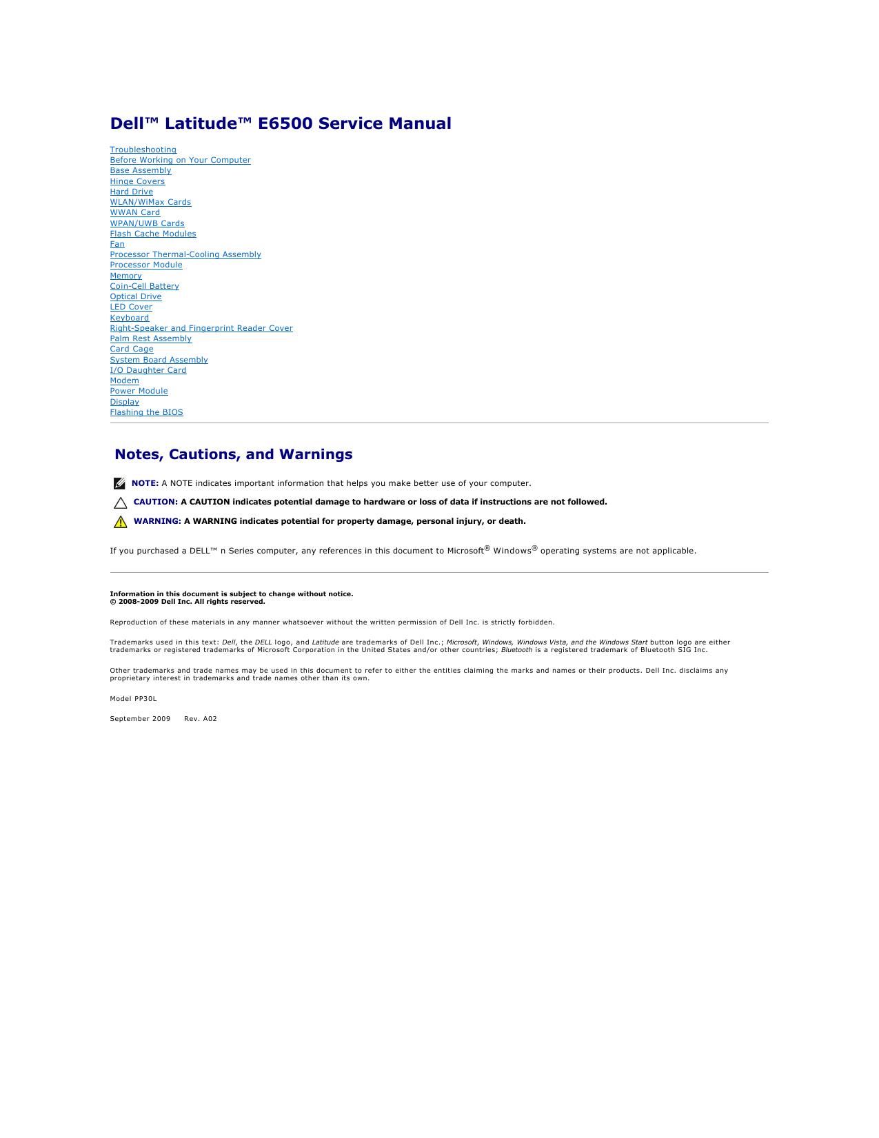dell e6520 service manual pdf