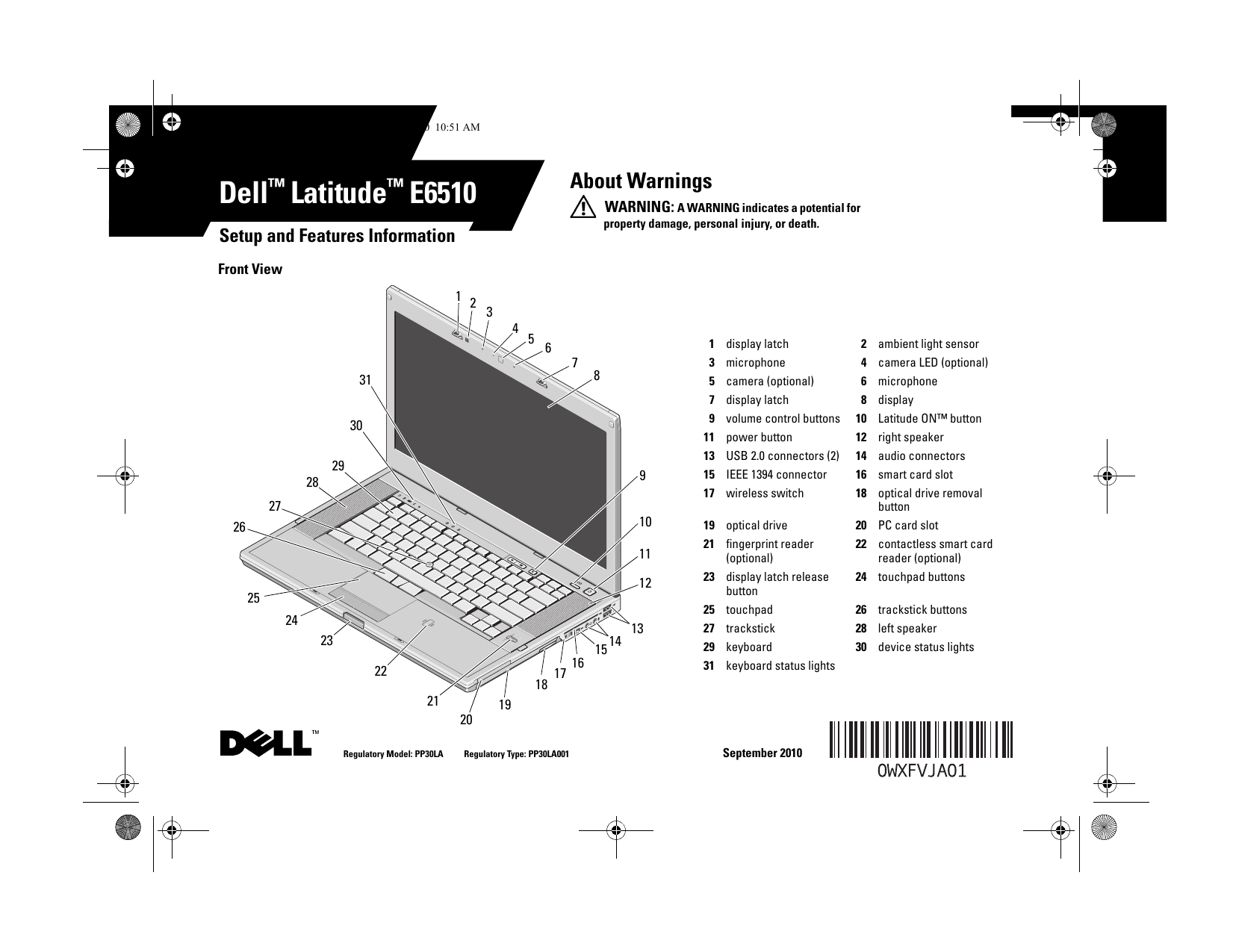 dell latitude e6510 early 2010 owner s manual free pdf download rh manualagent com dell latitude e6520 manual dell latitude e6540 manual