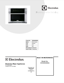 electrolux 30'' built-in convection microwave oven with drop-down door  ew30so60qs