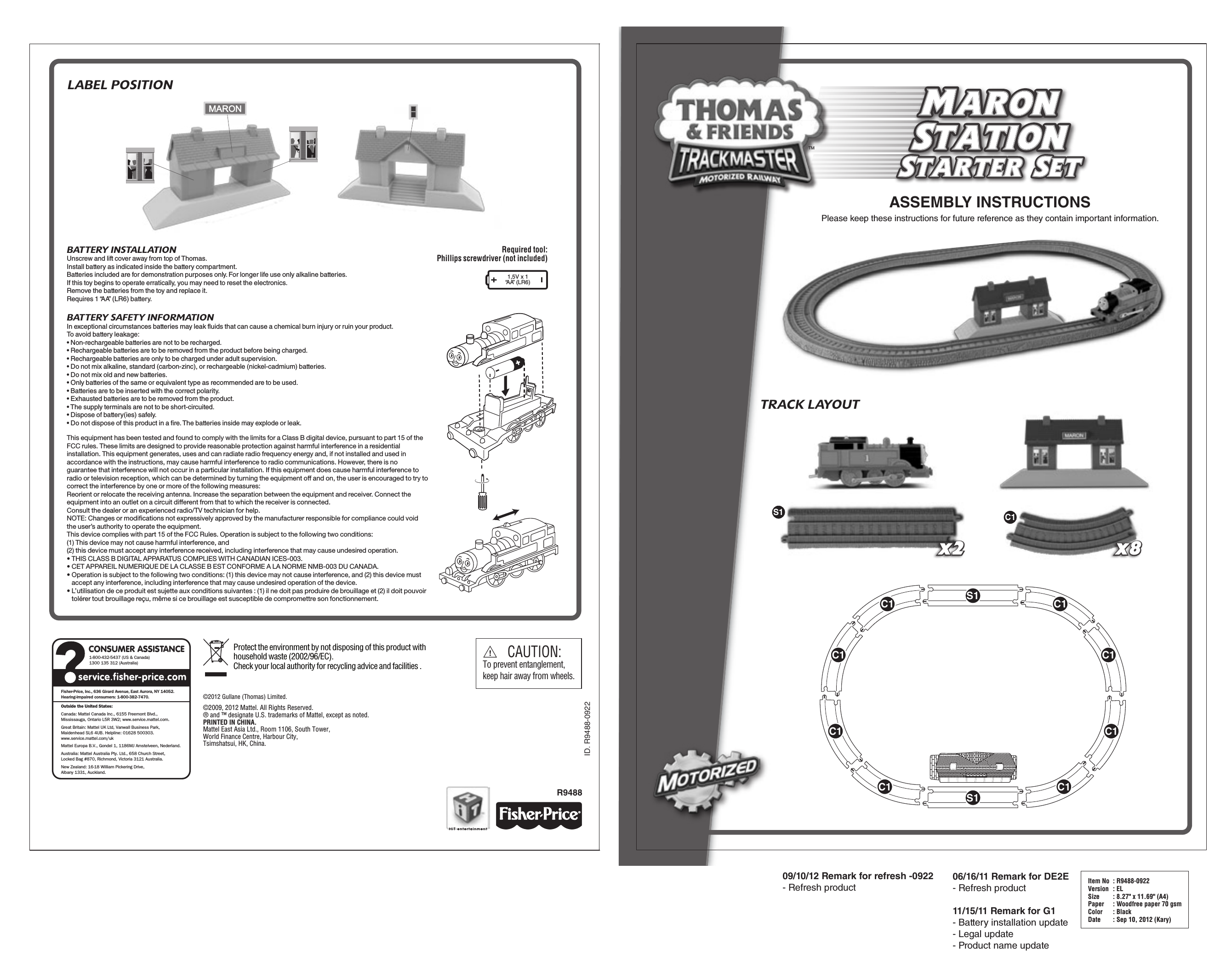 fisher price r9488 instruction sheet free pdf download 4 pages rh manualagent com fisher price instruction manuals online fisher price instruction manual cbv76-9993