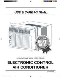 Frigidaire ELECTRONIC CONTROL AIR CONDITIONER User's Manual