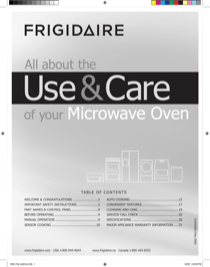 Frigidaire FGMO205KB Owner's Guide