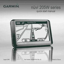 Garmin nüvi 265WT Quick Start Manual