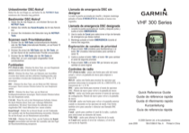 Garmin VHF 300/300i Marine Radio Installation Instructions