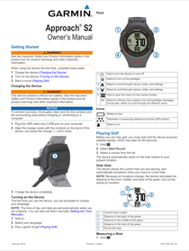 Garmin Approach S2 User Guide
