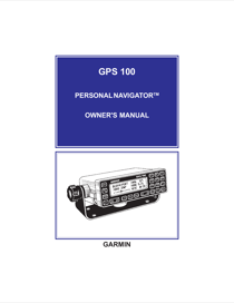 Garmin GPS 100 User's Manual
