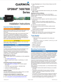 Garmin GPSMAP 7408 Installation Instructions