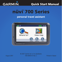 garmin nuvi 750 user s manual free pdf download 54 pages rh manualagent com Garmin Nuvi 750 Cradle Garmin Nuvi 750 Issues