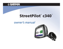garmin streetpilot c340 owner s manual free pdf download 44 pages rh manualagent com Garmin StreetPilot C340 Updates Garmin 276C