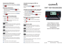 Garmin VHF 100/100i Marine Radio Installation Instructions