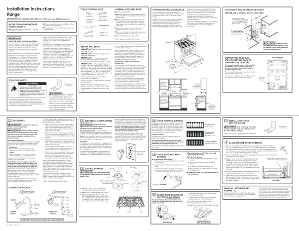 GE JGS750SEFSS Quick Start Manual