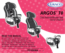 graco argos 70 pd169096a user s manual free pdf download 35 pages rh manualagent com Graco Argos 70 Safety Ratings graco argos 70 car seat manual