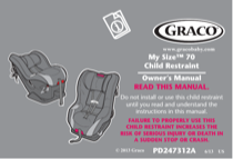 Graco My Size 70 Child Restraint PD247312A User's Manual