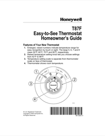 Honeywell t87f owners manual free pdf download 2 pages honeywell t87f owners manual cheapraybanclubmaster Image collections