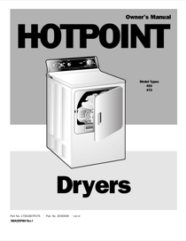 Hotpoint 453 User's Manual