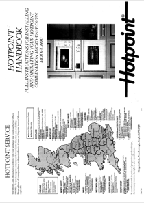 Hotpoint 6680 User's Manual