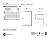 Hotpoint HPS15BTHLWW Specifications
