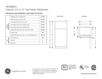 Hotpoint HPS18BTHBB Specifications