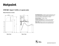 Hotpoint HTWP1400FWW Specifications