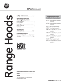 Hotpoint JV347HBB Use & Care Manual