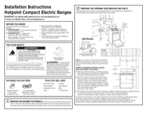 Hotpoint RA820DDWW Installation Instructions