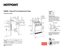 Hotpoint RA820DDWW Specifications