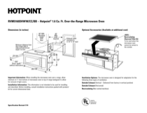 Hotpoint RVM5160DHCC Specifications