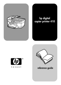HP 410 Digital Copier Printer Reference Guide