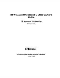 HP c3700 Workstation Owner's Manual