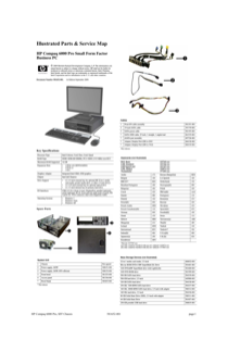 HP Compaq 6000 Pro Small Form Factor PC Service and Maintain