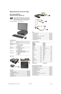 HP Compaq 8000 Elite Small Form Factor PC Service and Maintain
