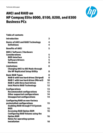 HP Compaq 8000 Elite Small Form Factor PC White Paper