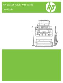 HP LaserJet M1300 Multifunction Printer series User's Manual