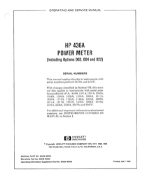 HP Saw 436A User's Manual