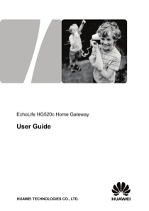 Huawei ECHOLIFE HG520C User's Manual