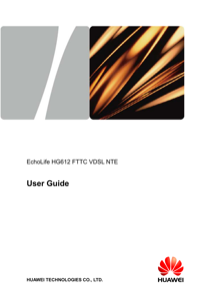 Huawei HG612FTTC VDSL NTE User's Manual