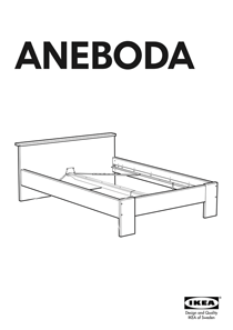 IKEA ANEBODA BED FRAME FULL WHT Assembly Instruction