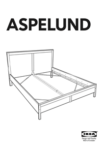 IKEA ASPELUND BED FRAME FULL/DOUBLE Assembly Instruction
