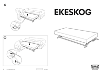 IKEA EKESKOG BED MECHANISM Assembly Instruction