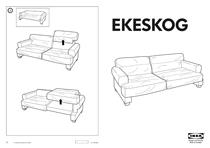 IKEA EKESKOG SOFA BED FRAME Assembly Instruction