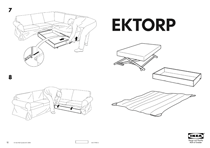 IKEA EKTORP BED MECH/STORBX/MAT-PROTCT US Assembly Instruction