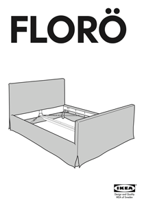 IKEA FLORO BED FRAME FULL, QUEEN & KING Assembly Instruction