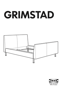 IKEA GRIMSTAD BED FRAME FULL & QUEEN Assembly Instruction