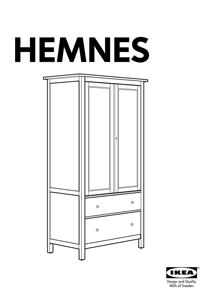 IKEA HEMNES WARDROBE W/ 2 DRAWERS Assembly Instruction
