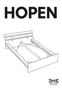 IKEA HOPEN BED FRAME KING Assembly Instruction