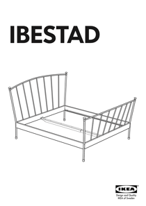 IKEA IBESTAD BED FRAME FULL & QUEEN Assembly Instruction