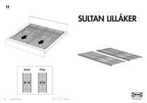 IKEA SULTAN LILLÃKER SLATTED BED BASE KING Assembly Instruction