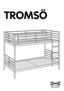 IKEA TROMSÃ BUNK BEDFRAME TWIN Assembly Instruction