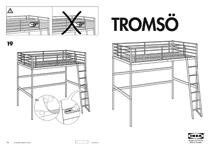 IKEA TROMSÃ LOFT BEDFRAME TWIN Assembly Instruction
