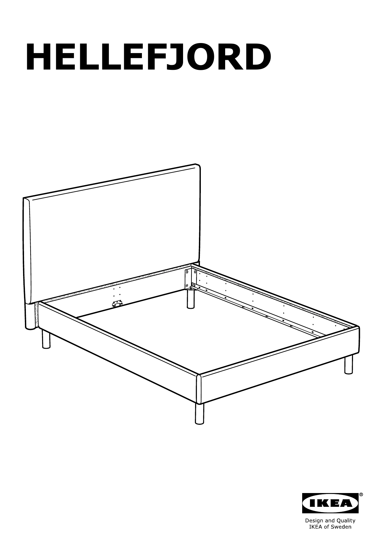 IKEA TOMREFJORD Bed frame Assembly Instruction